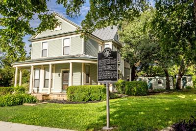 Blanco County Single Family Home Under Contract W/Contingencies: 208 N Avenue G