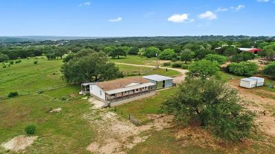 Blanco County Single Family Home Under Contract: 2502 Ranch Rd 1323
