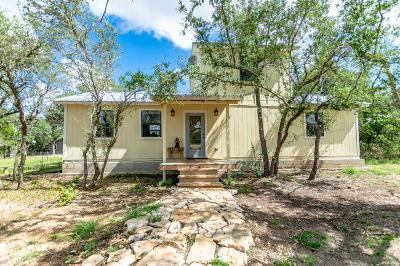Blanco County Single Family Home Under Contract W/Contingencies: 3085 Cox Rd