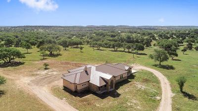 Blanco County Single Family Home For Sale: 156 E Waterhole Rd.