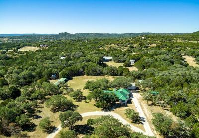 Blanco County Single Family Home For Sale: 643 Clear Creek Rd