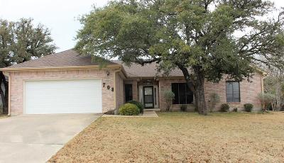 Kerr County Single Family Home Under Contract W/Contingencies: 708 Oak Hollow Dr.