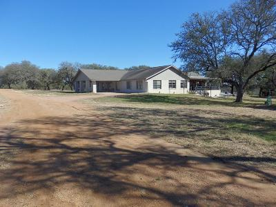 Gillespie County Single Family Home For Sale: 1300 Foster Ranch Rd