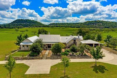 Fredericksburg TX Single Family Home For Sale: $1,250,000