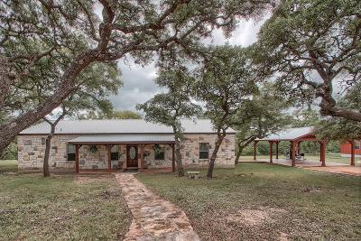 Fredericksburg TX Single Family Home For Sale: $499,800