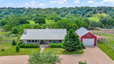 Fredericksburg Single Family Home Under Contract W/Contingencies: 701 Wolf Pass