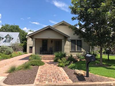 Gillespie County Single Family Home Under Contract W/Contingencies: 203 N Bowie