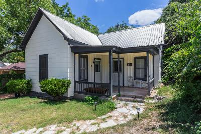 Fredericksburg Single Family Home Under Contract W/Contingencies: 205 S Creek St