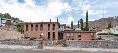 El Paso Single Family Home For Sale: 1501 Camino Alto Road