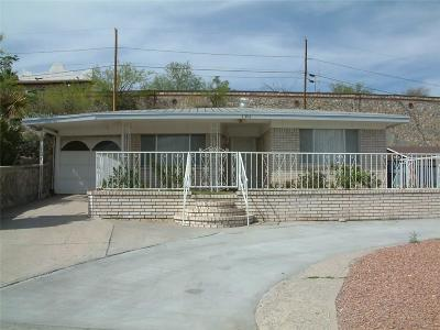 El Paso Single Family Home For Sale: 1301 Cliff Drive