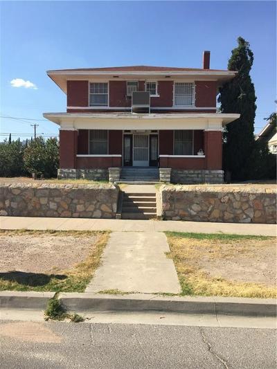 El Paso Single Family Home For Sale: 2801 Wheeling Avenue