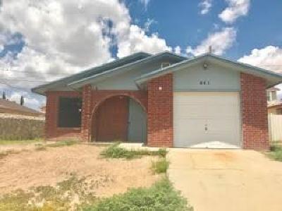 Horizon City Single Family Home For Sale: 441 Sunset Hills Drive