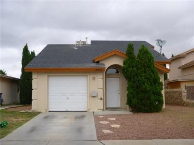 El Paso Single Family Home For Sale: 2233 Tierra De Oro Way