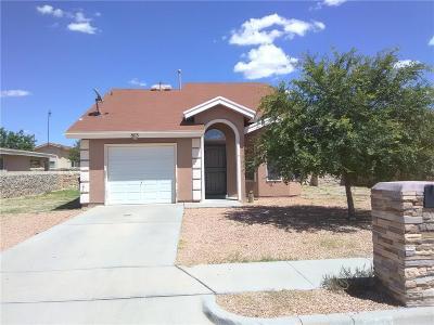 Anthony Single Family Home For Sale: 803 Eduardo Street