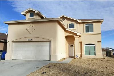 El Paso Single Family Home For Sale: 2324 Jasmine Ali