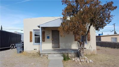 El Paso Single Family Home For Sale: 3727 Taylor Avenue