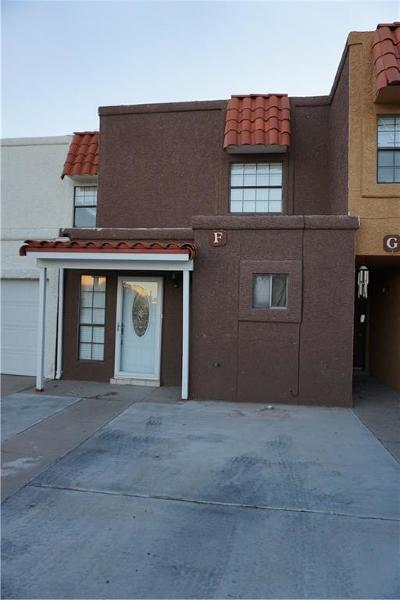 El Paso Single Family Home For Sale: 1594 Bengal Drive #F