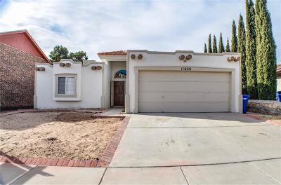 El Paso Single Family Home For Sale: 11620 Caballo Lake Dr. Drive