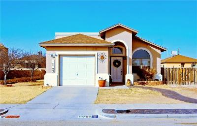 Horizon City Single Family Home For Sale: 14709 Calhoun Drive