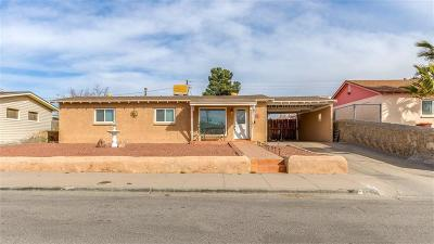 El Paso Single Family Home For Sale: 1134 Belen Road