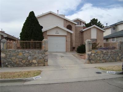 El Paso Single Family Home For Sale: 11923 Manuel Acosta Drive