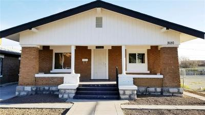 El Paso Single Family Home For Sale: 3120 Pershing Drive