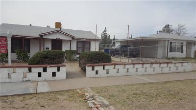 El Paso Single Family Home For Sale: 1609 Chelsea Street