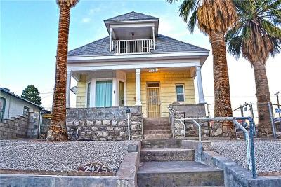El Paso Single Family Home For Sale: 2425 Lebanon Avenue
