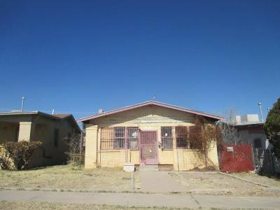 El Paso Single Family Home For Sale: 3319 Nations Avenue