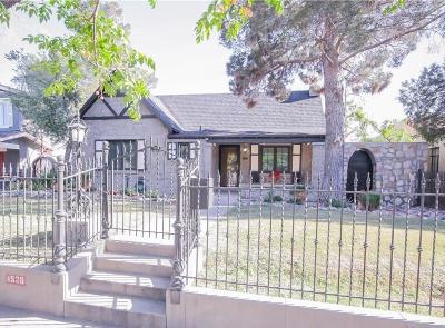 El Paso Single Family Home For Sale: 4536 Trowbridge Drive