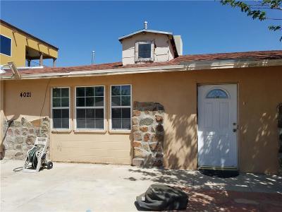 El Paso Single Family Home For Sale: 4021 Moonlight Avenue