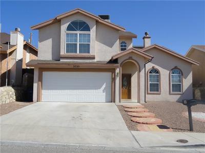 El Paso Single Family Home For Sale: 3725 Hubble Drive