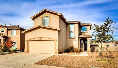 El Paso Single Family Home For Sale: 3161 Blue Dirt Circle