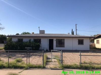El Paso TX Single Family Home For Sale: $55,000