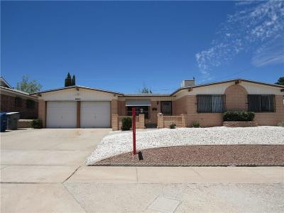 El Paso TX Single Family Home For Sale: $124,950