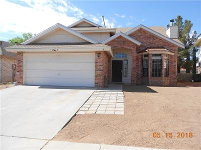 El Paso Single Family Home For Sale: 11620 Cree Court