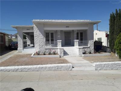 El Paso Single Family Home For Sale: 2915 Mobile Avenue