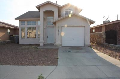 El Paso Single Family Home For Sale: 3617 Trina Place