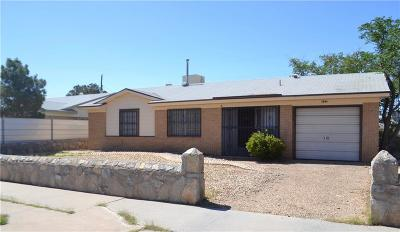 El Paso Single Family Home For Sale: 5644 Calgary Avenue
