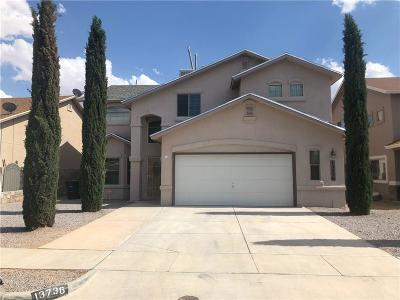 Horizon City Single Family Home For Sale: 13736 Paseo Central Avenue