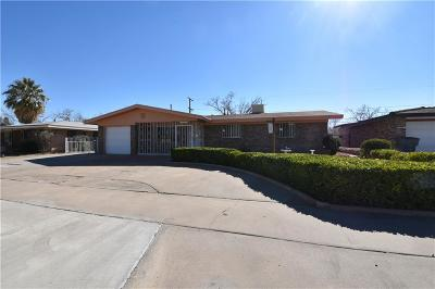 El Paso TX Single Family Home For Sale: $122,500