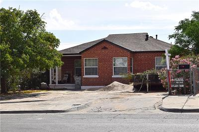 El Paso Single Family Home For Sale: 1501 Howze Street
