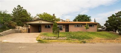El Paso Single Family Home For Sale: 4212 Buckingham Drive