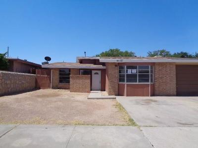 El Paso Single Family Home For Sale: 6008 Morning Glory Circle