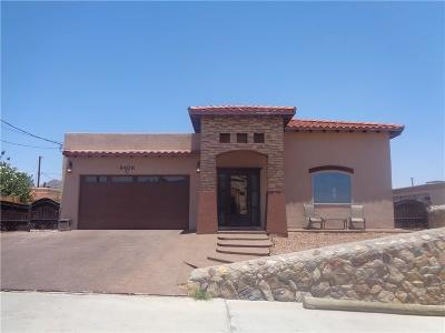 El Paso Single Family Home For Sale: 8408 Mercury Street #C