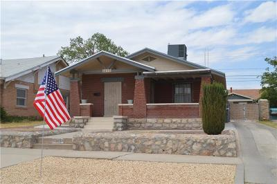 El Paso Single Family Home For Sale: 3215 Aurora Avenue