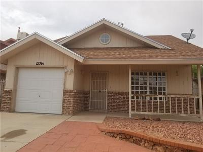 El Paso TX Single Family Home For Sale: $110,200
