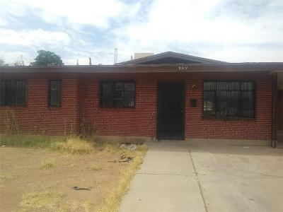 El Paso Single Family Home For Sale: 9317 Salisbury Drive