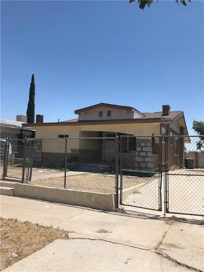 El Paso Single Family Home For Sale: 3708 Chester Avenue