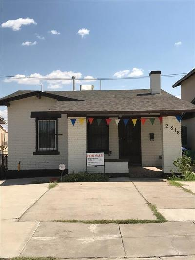 El Paso Single Family Home For Sale: 2818 Frankfort Avenue